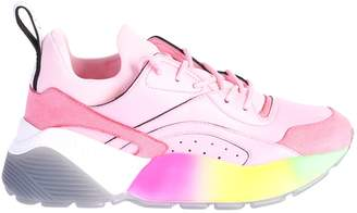 Stella McCartney Pink Lace Up Sneakers