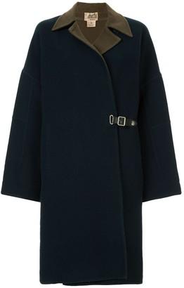 Hermes Pre-Owned buckle detail coat