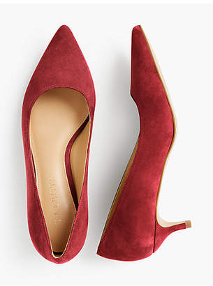 Talbots Sylvie Kitten-Heel Pumps - Kid Suede