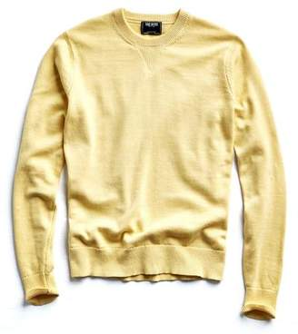 Todd Snyder Cotton Cashmere Sweater in Yellow