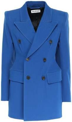 Balenciaga Double-breasted Cotton-blend Gabardine Blazer