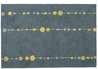 Beads 5'x8' Rug in Charcoal