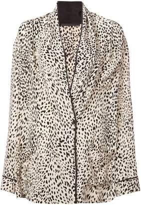 Haider Ackermann animal print silk jacket