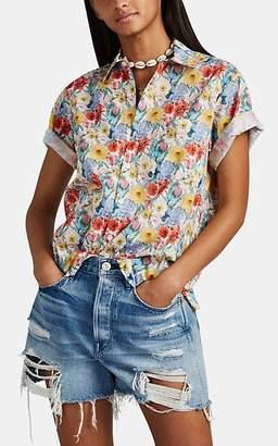 R 13 Women's Floral Cotton Skater Shirt