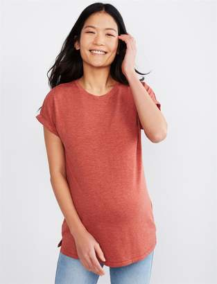 A Pea in the Pod Luxe Essentials Boyfriend Fit Nep Maternity T Shirt