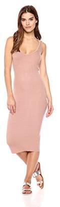 Enza Costa Women's Stretch Silk Rib Tank Midi Dress