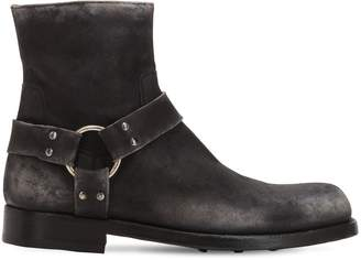 Officine Creative ASHER 006 DISTRESSED LEATHER BOOTS