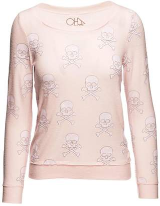Chaser Opal Skulls Pullover $80 thestylecure.com
