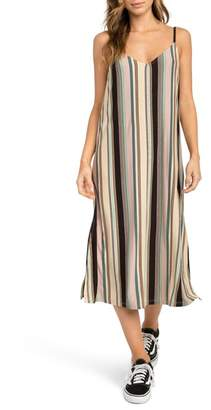 RVCA Jasmine Stripe Midi Dress