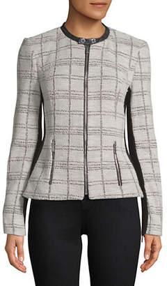 Calvin Klein Tweed Zip Front Jacket
