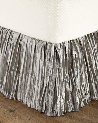 Dian Austin Couture Home Queen Penthouse Suite Crushed Silk Dust Skirt
