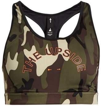 The Upside Anna camouflage-print performance bra