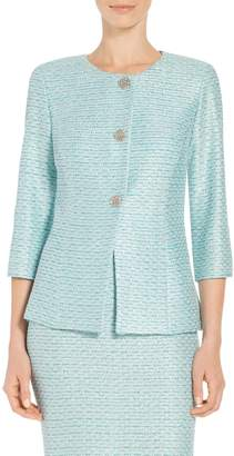 St. John Glitter Sequin Knit Jacket