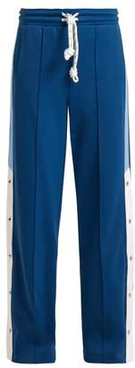 Burberry Sungi Wide Leg Trousers - Womens - Light Blue
