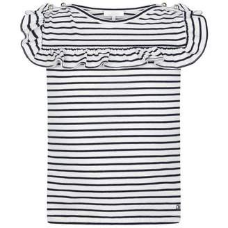 Chloé ChloeGirls Navy Striped Jersey Top