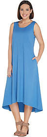 Joan Rivers Classics Collection Joan Rivers Petite Jersey Knit Midi Dress withHi-Low Hem