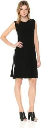 Norma Kamali Women's Side Stripe Sleeveless Swing Dress, XL