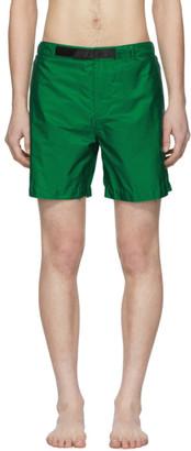 Prada Green Nylon Swim Shorts