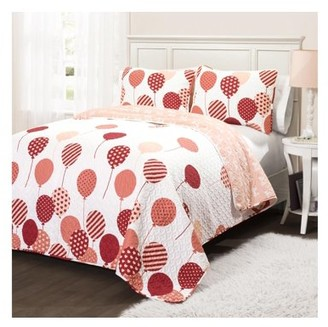 Lush Decor Flying Balloon Quilt Set - Pink