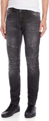 Antony Morato Faded Black Racer Super Skinny Jeans