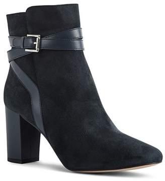 Reiss Enrica Suede & Leather High-Heel Booties
