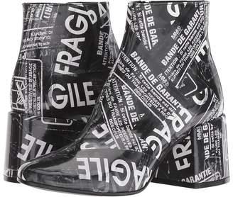 MM6 MAISON MARGIELA Fragile Graphic Boot Women's Boots