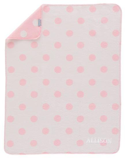 Personalized Pitter Pattern Blanket (Pink Polka Dot)
