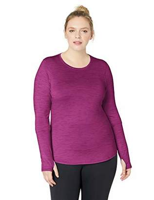 Core 10 Women's Plus Size Be Warm Brushed Thermal Fitted Long Sleeve