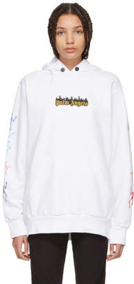 Palm Angels White Dance of Death Hoodie