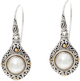 Artisan Crafted Sterling Silver & 18K Gold Gemstone Dangle Earrings