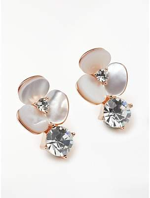 Kate Spade Mother of Pearl Flower Stud Earrings, Rose Gold/Neutrals