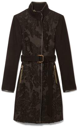 Vince Camuto Wool-blend Jacquard Coat