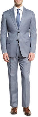 Armani Collezioni Neat Wool Two-Piece Suit, Blue/White