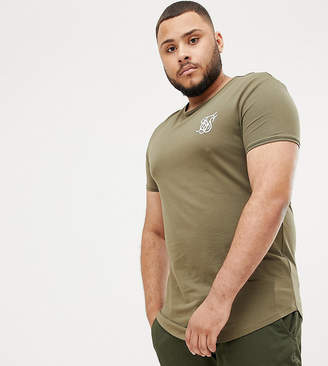 SikSilk short sleeve t-shirt in khaki exclusive to ASOS
