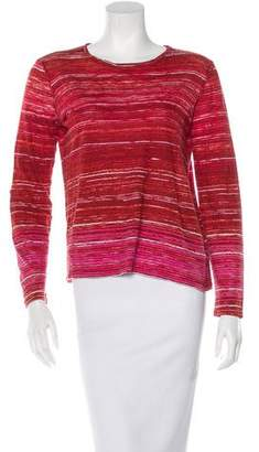Proenza Schouler Abstract Print Long Sleeve Top