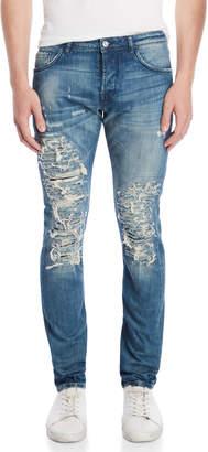 Patrizia Pepe Distressed Slim Tapered Jeans