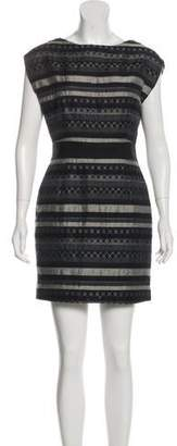 Yigal Azrouel Sleeveless Jacquard Dress