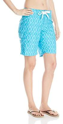 Kanu Surf Women's UPF 50+ Quick Dry Active Prints III Swim Boardshort