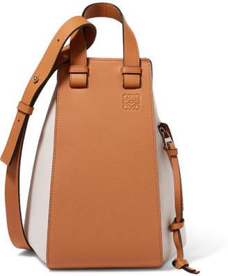 Loewe Hammock Two-tone Textured-leather Shoulder Bag - Tan