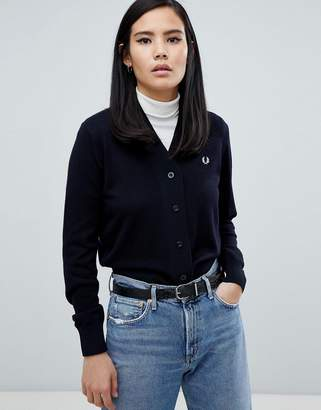 Fred Perry Crop Knit Cardigan