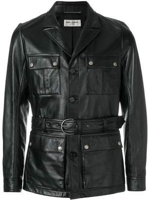 Saint Laurent Saharienne leather jacket