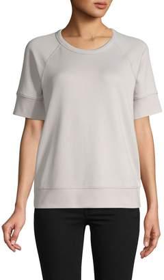 James Perse Raglan-Sleeve Cotton-Blend Top