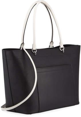 Iconic American Designer Colorblock Saffiano Leather Tote Bag fd963bd1d8