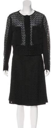 Prada Crochet Skirt Suit
