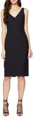 Rachel Roy Back-Slit Sleeveless Solid Dress