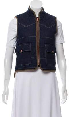See by Chloe Quilted Denim Vest w/ Tags