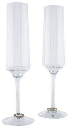 Orrefors Pair of Amor Vincit Omnia Champagne Flutes