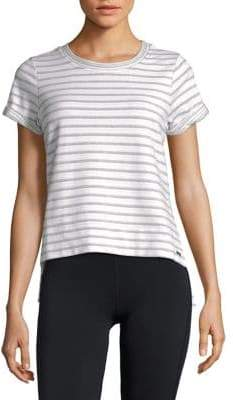 Andrew Marc Performance Striped Short Sleeve Tee