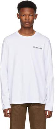 Helmut Lang White Logo Long Sleeve T-Shirt