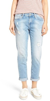 Women's Mavi Jeans Ada Ripped Boyfriend Jeans $118 thestylecure.com